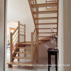 ESCALIERS DE FRANCE - Bernay - Escalier Bois, Inox, Métal