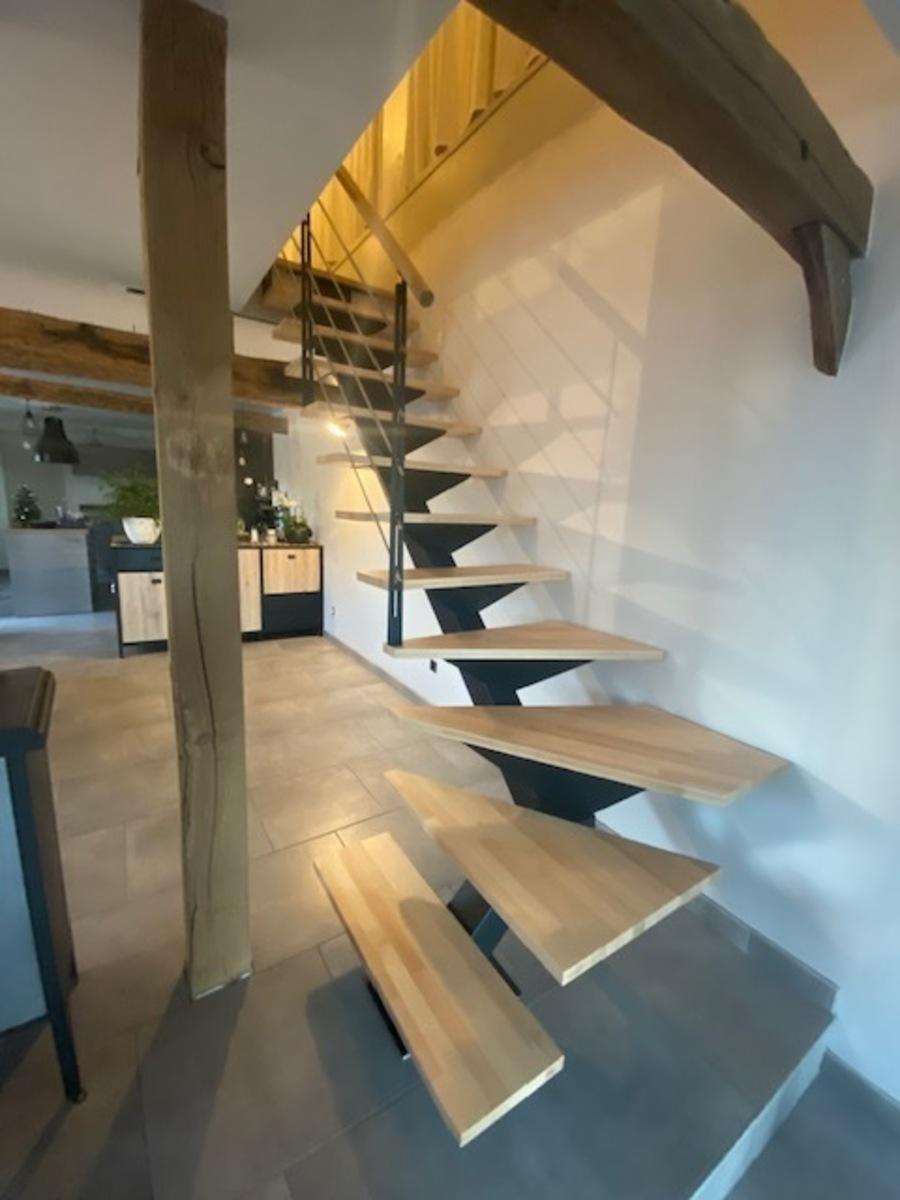Huile Pour Escalier Hetre escalier métal Évreux : bois - escaliers de france