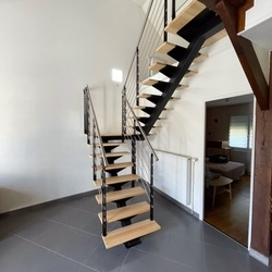 escalier tournant - Escaliers de France - Bernay