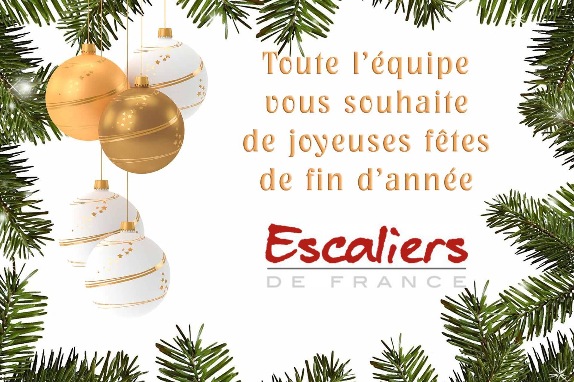 Fermeture d'Escaliers de France à l'occasion des fêtes de fin d'année