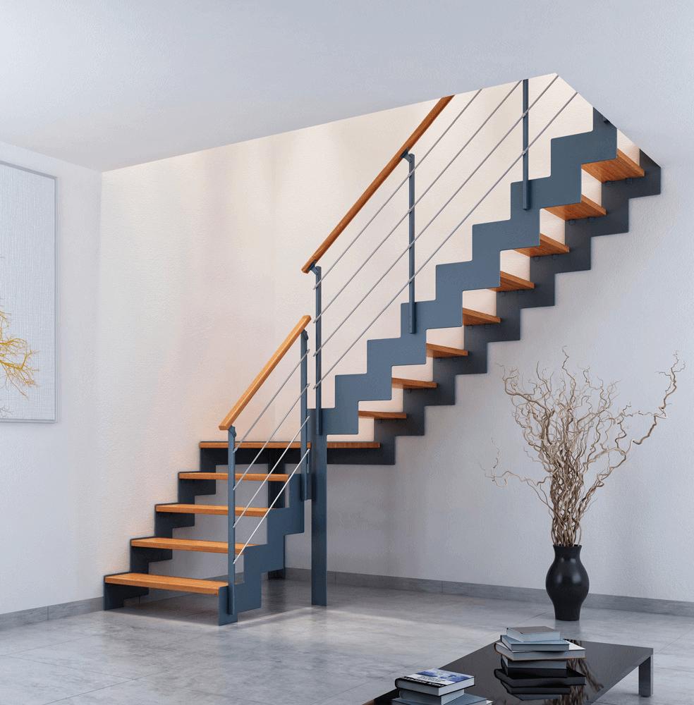 Faire le choix d'un escalier sur mesure quart tournant
